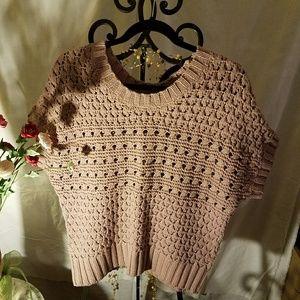 Mauve cropped sweater